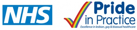 NHS - Pride in Practice - Excellence in lesbian, gay & bisexual healthcare.