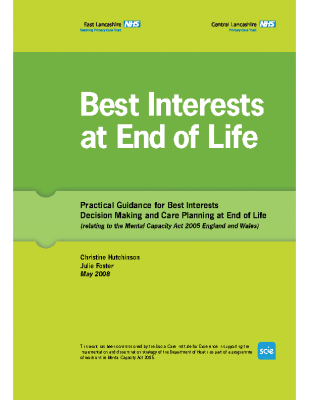 Practical Guidance For Best Interests