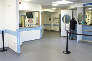 A&E Reception Area