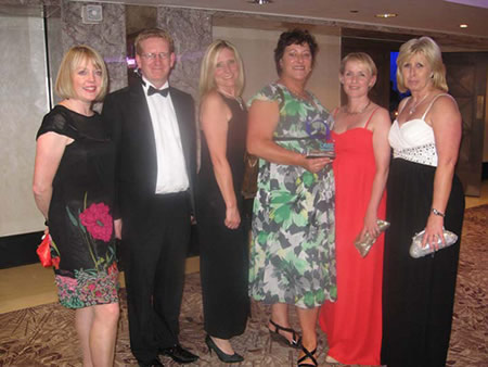 The team at the awards ceremony
