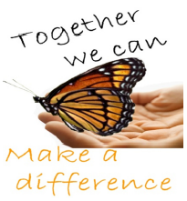 butterfly logo with caption - together we can make a difference