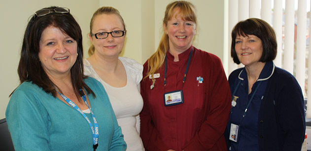 Team picture of some of the Community Matrons