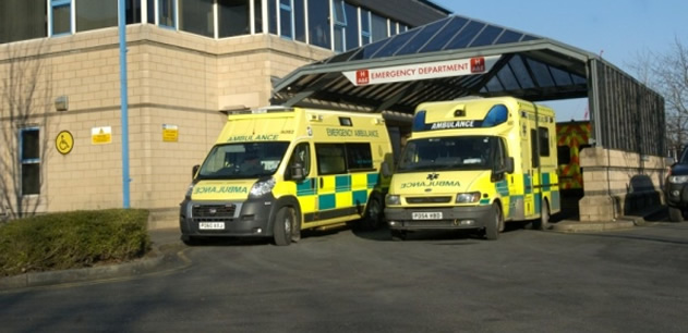 External view of the Emergency Department at Royal Lancaster Infirmary