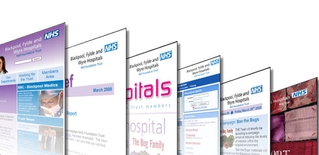 Image showing thumbnail images of some of the publications created by the department