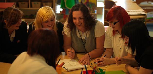 School Nurses with students