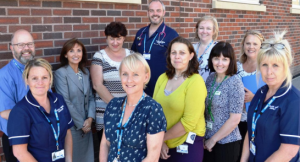 Dr Andrea Whitfield (centre), with members of the End of Life team at Blackpool Victoria Hospital.