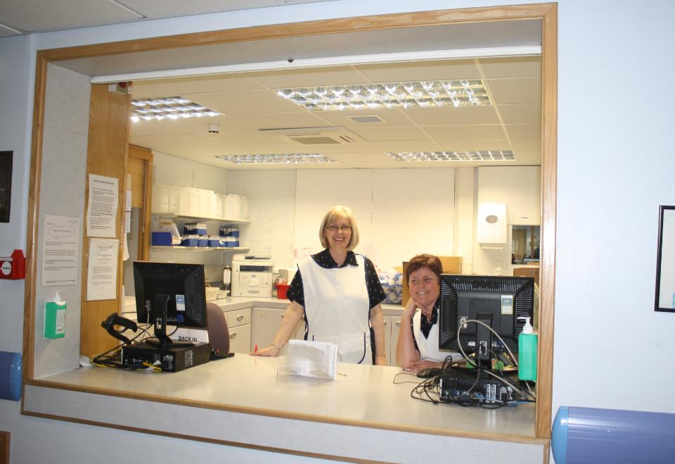 Pathology Reception area with Reception Staff