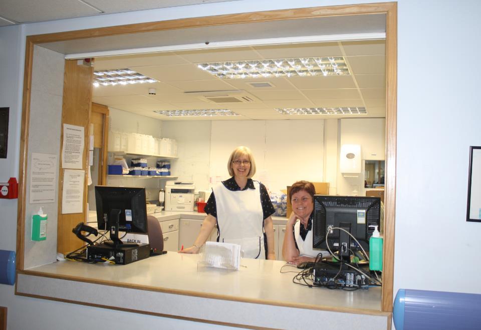 Pathology Reception area with Reception Staff