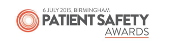 patient safety awards logo - 6 july 2015 Birmingham