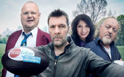 From left: Al Murray, Rhod Gilbert, Shappi Khorsandi and Bill Bailey.