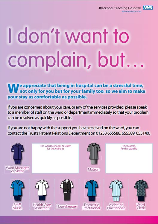 picture of a complaints poster