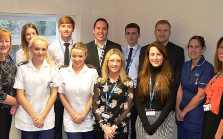 a group picture of Apprentices and managers at Blackpool Teaching Hospitals NHS Foundation Trust