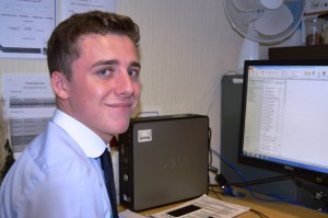 Trafford Bretherton who has an apprentice role on the IT support desk