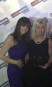 Lisa with Lorraine at the awards ceremony