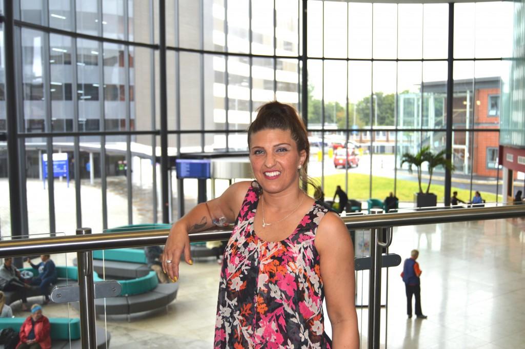 Sarah Colledge at Blackpool Victoria Hospital