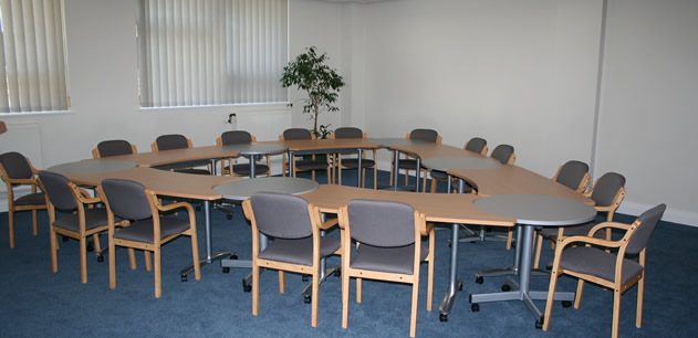 Interior of a room at HPEC