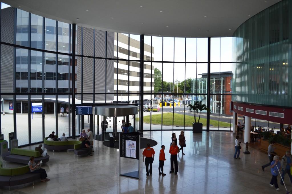 The main entrance at Blackpool Victoria Hospital
