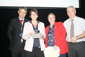 Wendy Canning receiving her award