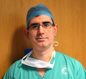 A surgeon at work
