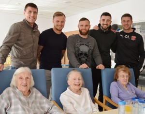 Fleetwood Town players at Clifton Hospital