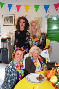 A patient with two drag queens and a nurse
