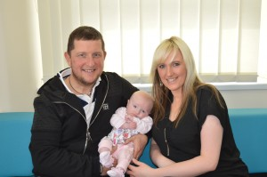 Parents with their baby