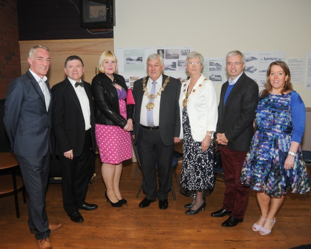 Doug Garrett, Peter Buckley, friend of Blue Skies Amanda Bennett, the Mayor and Mayoress of Fylde, Mark Menzies MP and Caroline Scholz at the Fylde Sinfonia Concert at the Lowther Pavilion
