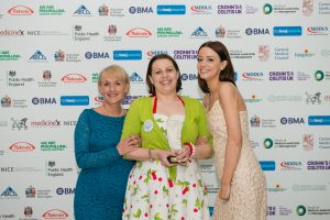 Dr Andrea Whitfield (left) and Dr Harriet Preston (centre) at the awards event