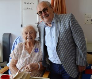 Bobby and patient Ruth Wright