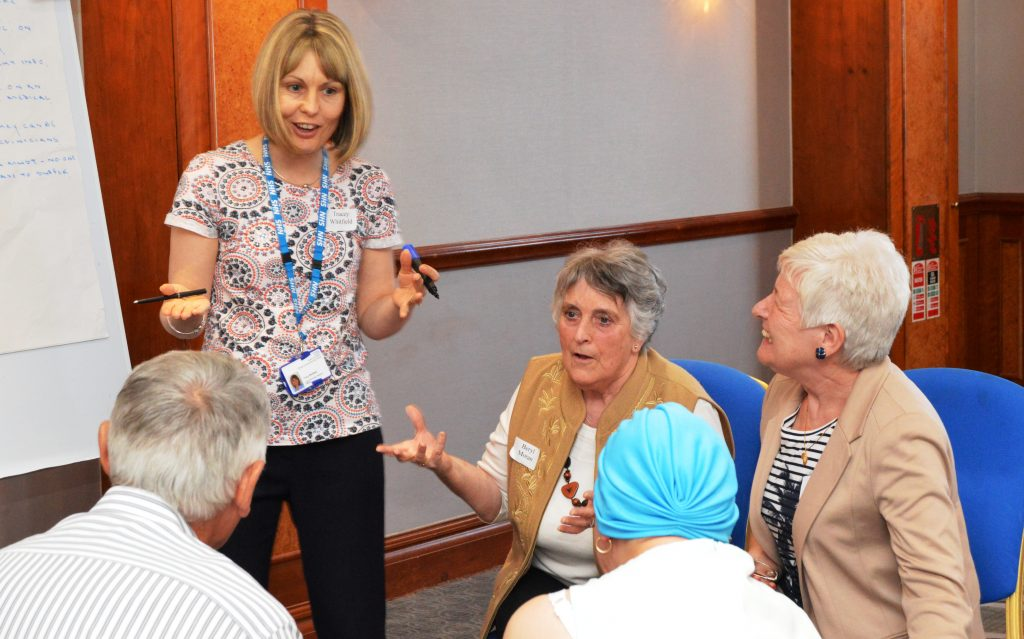 Patients sharing their views at last year's cancer listening event