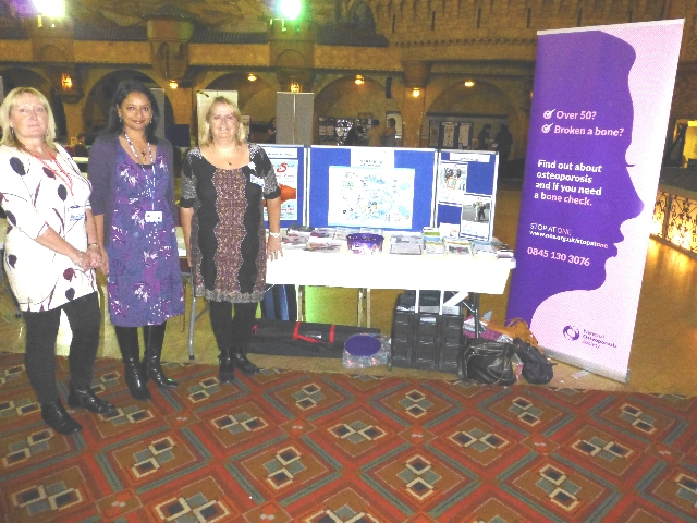 From left: Janice Booth (Rheumatology Nurse Practitioner), Dr Chandini Rao and Helen Veevers (Osteoporosis Nurse Specialist) at a recent health awareness event
