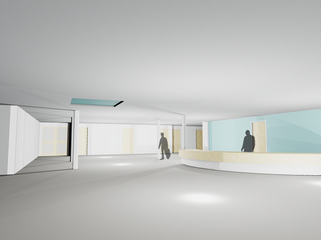 An artist's impression of the new Outpatients entrance