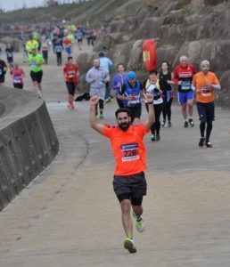 Paul Hans running the Blackpool Marathon