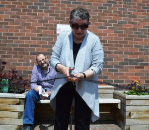 Jean Sherrington opens the new Stroke Garden