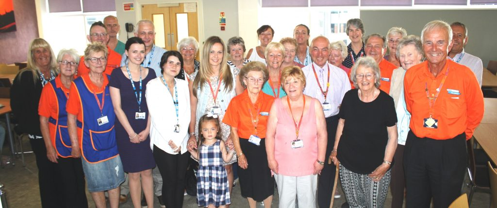 Volunteers and staff at Blackpool Victoria Hospital