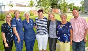 Members of the Phoenix Bowel Cancer support Group and staff at Blackpool Victoria Hospital