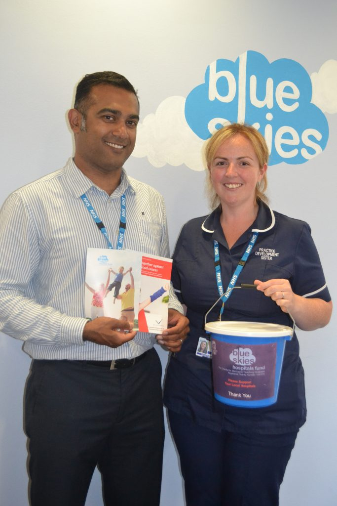 Louise and Amith Paramel prepare for the fundraising event for Delete Blood Cancer UK and Blue Skies Hospitals Fund