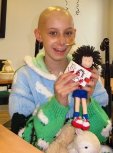 Alison with the Tracy Beaker doll from Nick Sharratt