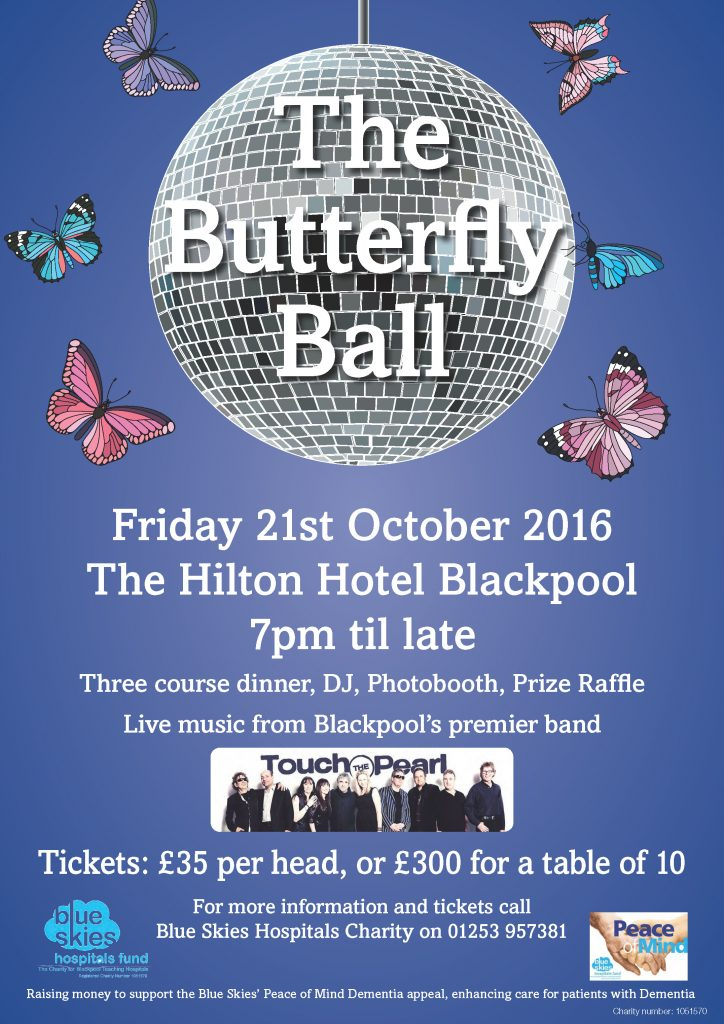 All are welcome to buy tickets for our Butterfly Ball to enhance dementia care