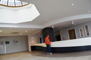 A view of the new outpatients area at Blackpool Victoria Hospital