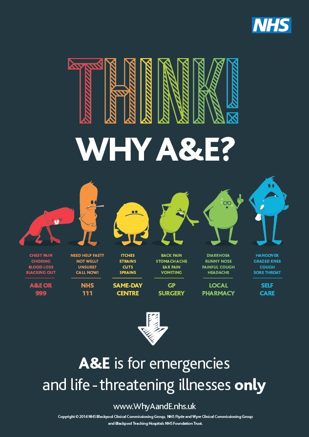 Think!WhyA&E.Call.111 IK Generic poster - Copy
