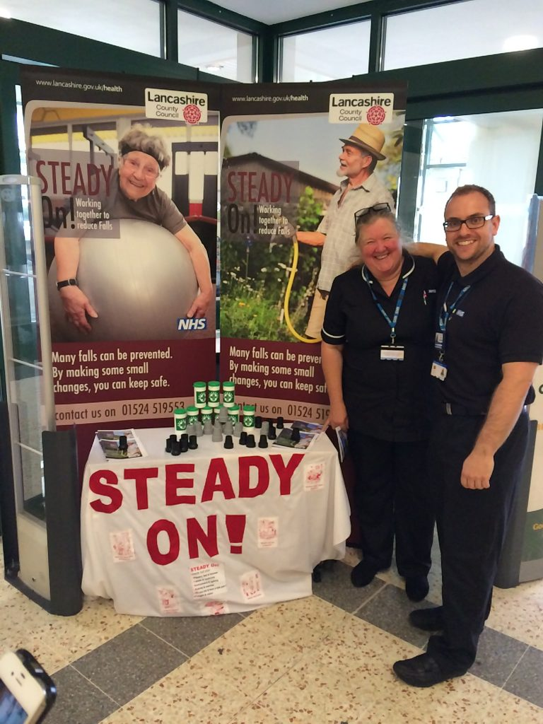 The 'Steady on!' falls prevention service which is run by Better Care Together partners; Blackpool