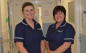 Jenny McDonald, Clinical Nurse Specialist for Acute Pain, with Lisa Doughty, Nurse Specialist Lead for Acute Pain