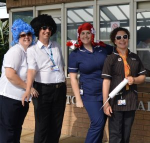 Staff from Clifton Hospital performing in the video