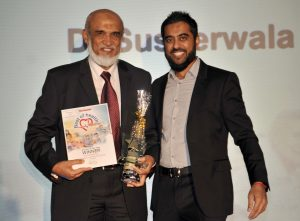 Doctor of the Year winner Dr Shabbir Susnerwala (left) at the Blackpool Gazette Best of Health Awards