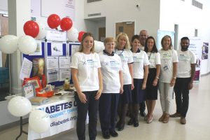 Staff from Blackpool Teaching Hospitals NHS Foundation Trust promote Hypo Awareness Week