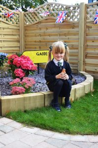 Lylia in the new Clifton dementia-friendly garden
