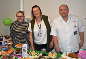 Members of staff from the Haematology Day Unit at their cake sale