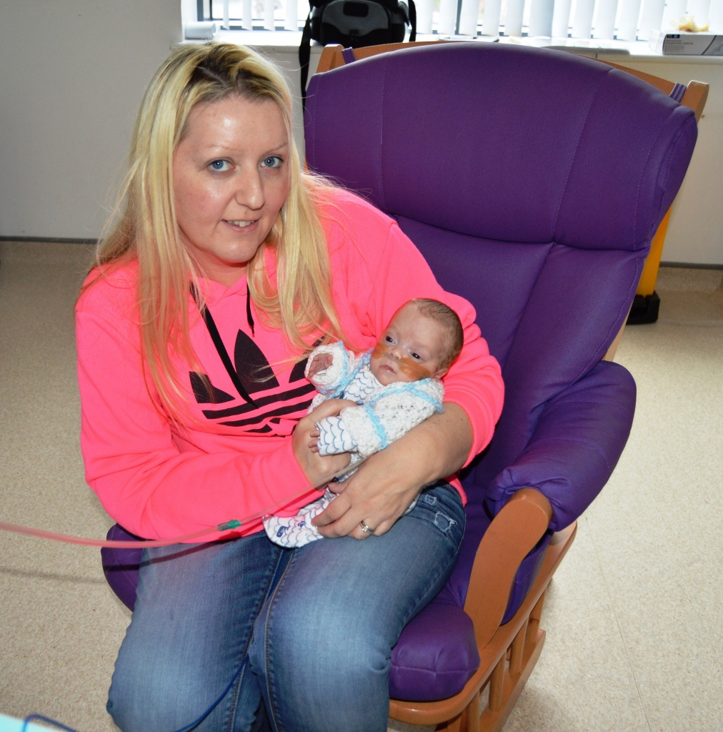 Stacey with baby Kaelan