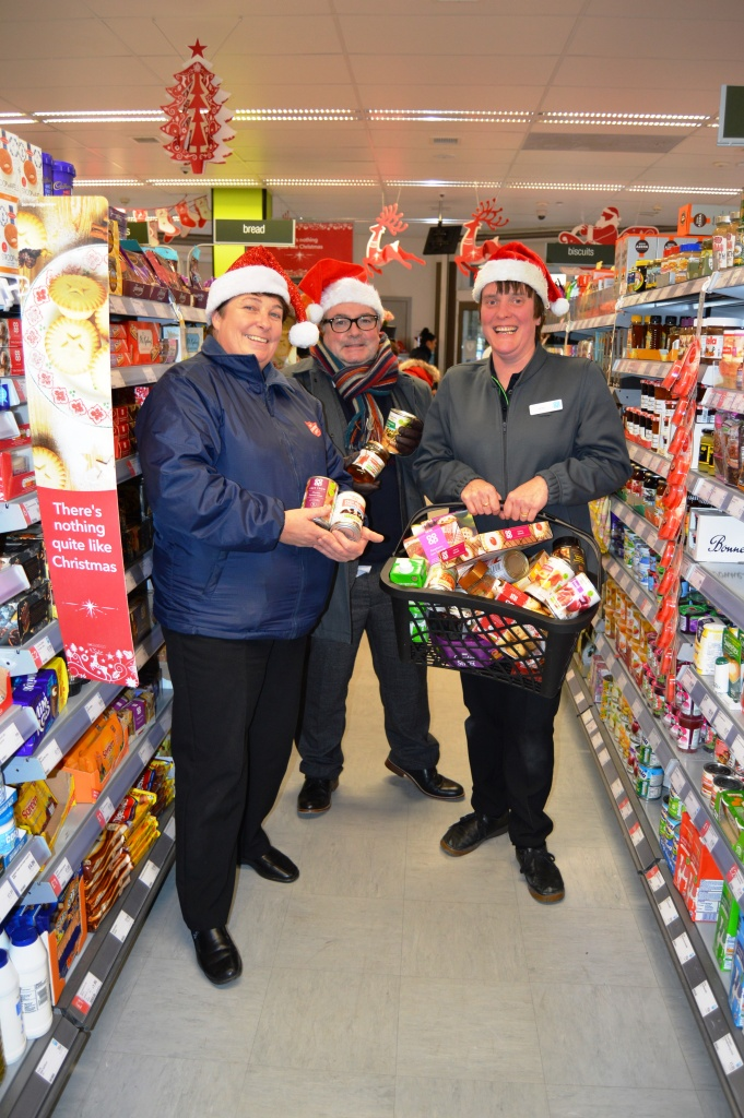 The Salvation Army's Bridge Project Manager, Head of Patient Experience, Andrew Heath and Co-op Team Leader, Lisa Wildman